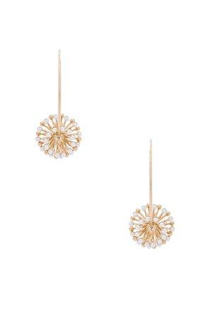 Pearl Sputnik Flower Hoops