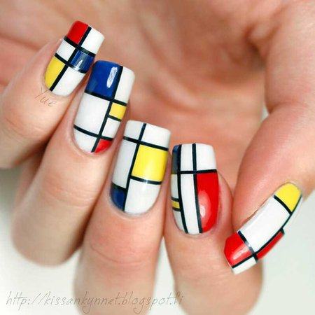 primary color nails