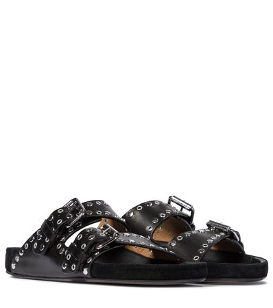 Isabel Marant - Lennyo leather sandals | Mytheresa