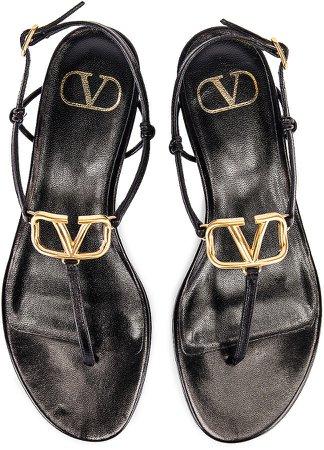 VLogo Thong Sandals in Black | FWRD