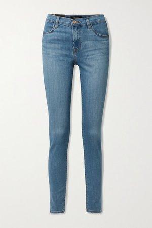 Maria High-rise Skinny Jeans - Mid denim
