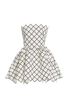 Printed Tie-Back Silk Faille Cocktail Dress By Oscar De La Renta | Moda Operandi