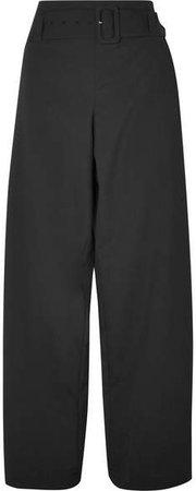 REJINA PYO - Ava Belted Wool-blend Pants - Black
