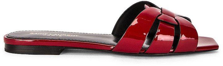 Tribute Flat Sandals in Hot Red | FWRD