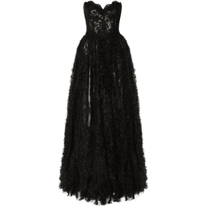 Black Dress Gown PNG