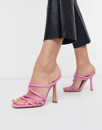 ALDO Arianna strappy heel sandal in pop pink | ASOS