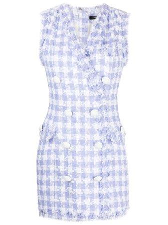 Balmain double-breasted tweed minidress