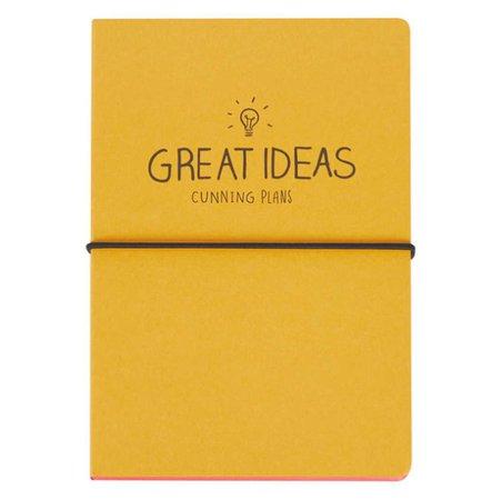 "notebook ""GREAT IDEAS Cunning Plans"""