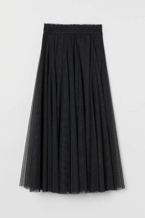 Tulle Circle Skirt - Black