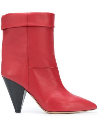 Red Isabel Marant Luido boots - Farfetch