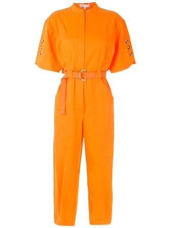 Orange Nk short sleeves belted jumpsuit - Farfetch