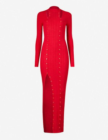 JACQUEMUS - Maille button-embellished ribbed knitted maxi dress | Selfridges.com