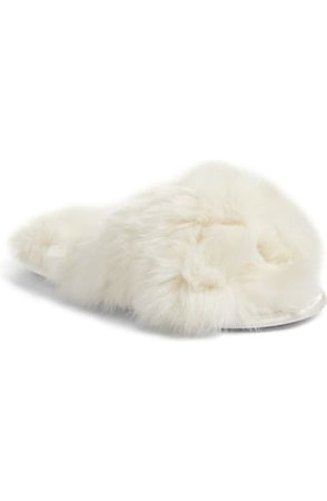 Rachel Parcell Faux Fur Slipper (Women) (Nordstrom Exclusive) | Nordstrom