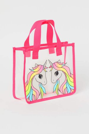 Transparent Shopper - Pink