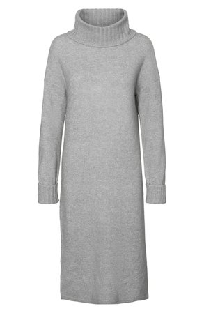 VERO MODA Gaiva Turtleneck Long Sleeve Sweater Dress | Nordstrom