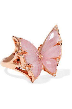 Stephen Webster | Fly By Night 18-karat rose gold multi-stone ring | NET-A-PORTER.COM