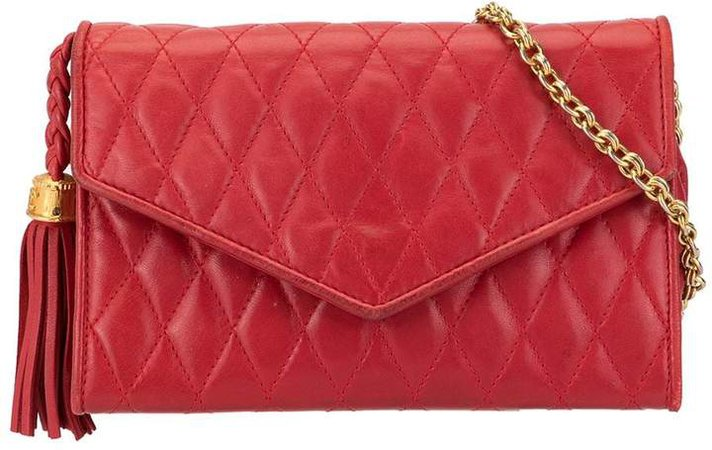 Pre-Owned quilted envelope shoulder bag