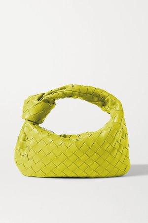 Green Jodie mini knotted intrecciato leather tote | Bottega Veneta | NET-A-PORTER