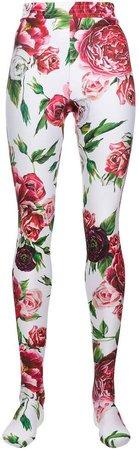 footed floral leggins