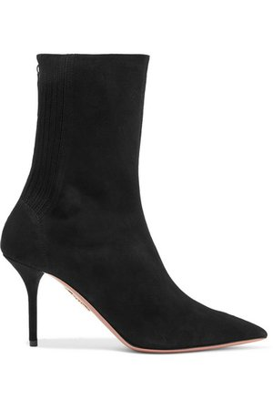 Aquazzura | Saint Honore suede sock boots | NET-A-PORTER.COM