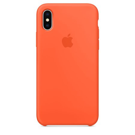 iPhone X Silicone Case — Spicy Orange - Apple (AU)
