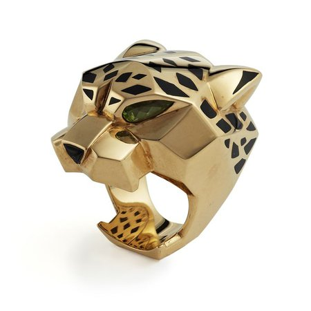 Gold Cartier Panther ring