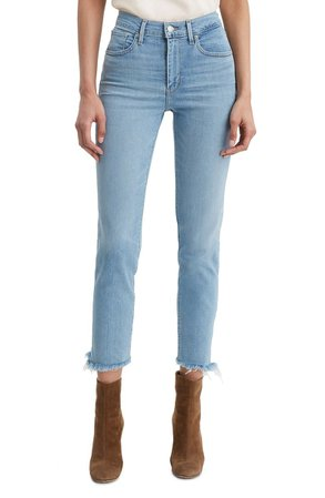 Levi's® 724™ High Waist Fray Crop Straight Leg Jeans (San Francisco Days) | Nordstrom