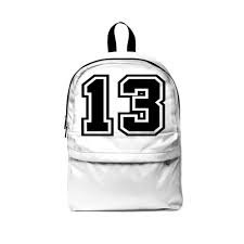 black and white jersey numbers backpack - Google Search