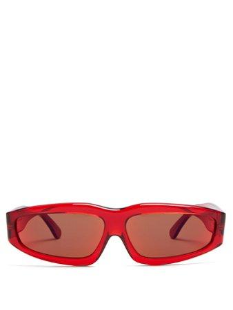 Transparent rectangle-frame acetate sunglasses | Marques'Almeida | MATCHESFASHION.COM US
