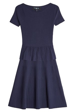 Ribbed Dress with Silk Gr. L