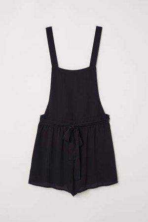 Bib Overall Shorts - Black