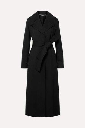 Belted Cady Coat - Black
