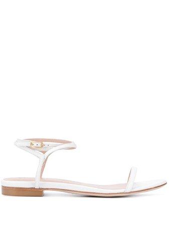 Stuart Weitzman Merinda flat patent sandals