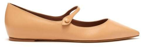 Hermione Leather Flats - Womens - Nude