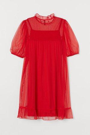 Mesh Dress - Red