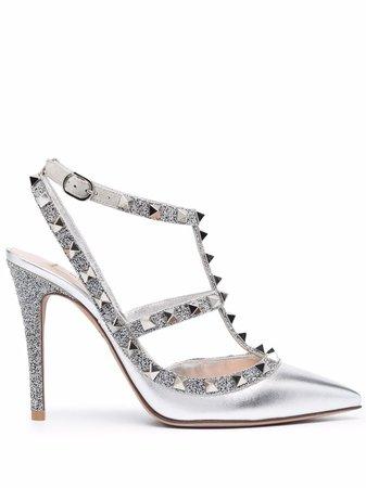 Valentino Garavani Rockstud glitter-detail Pumps - Farfetch