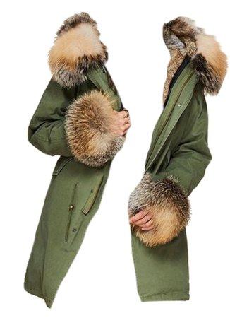 Fur lined coat