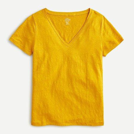 J.Crew: Linen V-neck T-shirt For Women