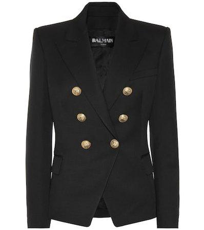 Embellished wool blazer