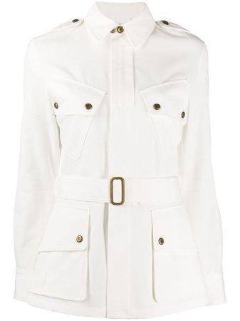 Ralph Lauren Collection Belted Denim Jacket - Farfetch