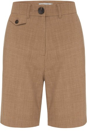 Anna Quan Patsy High-Rise Wool-Blend Shorts