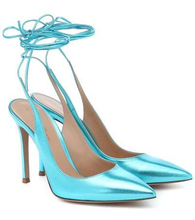 Gianvito Rossi - Irene 105 leather pumps | Mytheresa