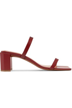 BY FAR   Tanya leather mules   NET-A-PORTER.COM