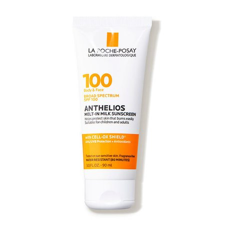 La Roche-Posay Anthelios Melt-in Milk Body & Face Sunscreen Lotion Broad Spectrum SPF 100 | Dermstore