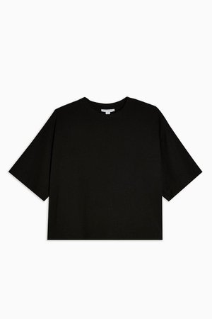 Black Panel Boxy T-Shirt