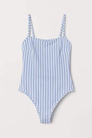 High Leg Swimsuit - Blue