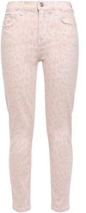 The Stiletto Leopard-print Mid-rise Skinny Jeans