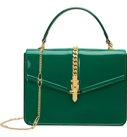 Gucci Small Sylvie 1969 Patent Leather Top Handle Bag | Nordstrom