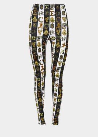 Versace - Black & white Zeus print leggings ($795)