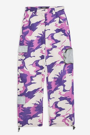 **Purple Camouflage Combat Trousers by Jaded London | Topshop